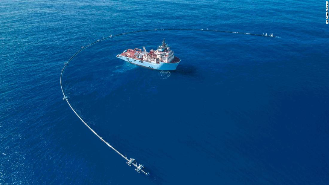 2,000 foot-long floating pipe to start collecting all the plastic in the Pacific