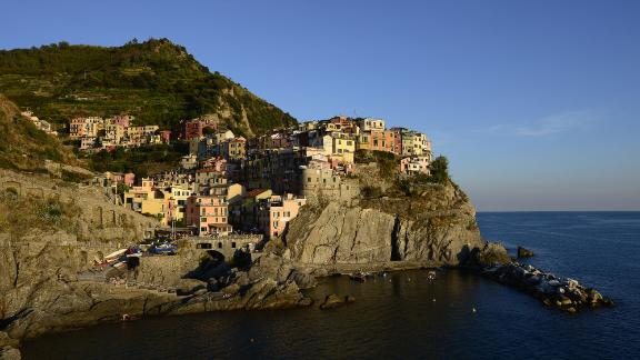 """The beautiful villages in the """"Cinque Terre"""" area of Italy are at high risk by the year 2100 from erosion caused by climate change, according to the study."""