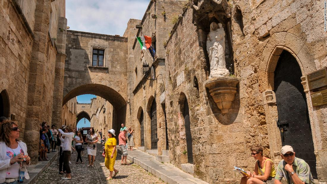 "The Avenue of the Knights in the medieval Old Town of Rhodes, Greece, is also in danger. ""If our common heritage is destroyed or lost, it is not possible to replace or rebuild it,"" said lead study author Lena Reimann, a doctoral researcher for the Coastal Risks and Sea-Level Rise Research Group in Germany."