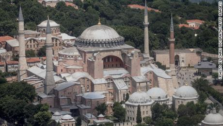 Istanbul's famous Hagia Sofia is one of the many historical heritage sites in danger from climate change.