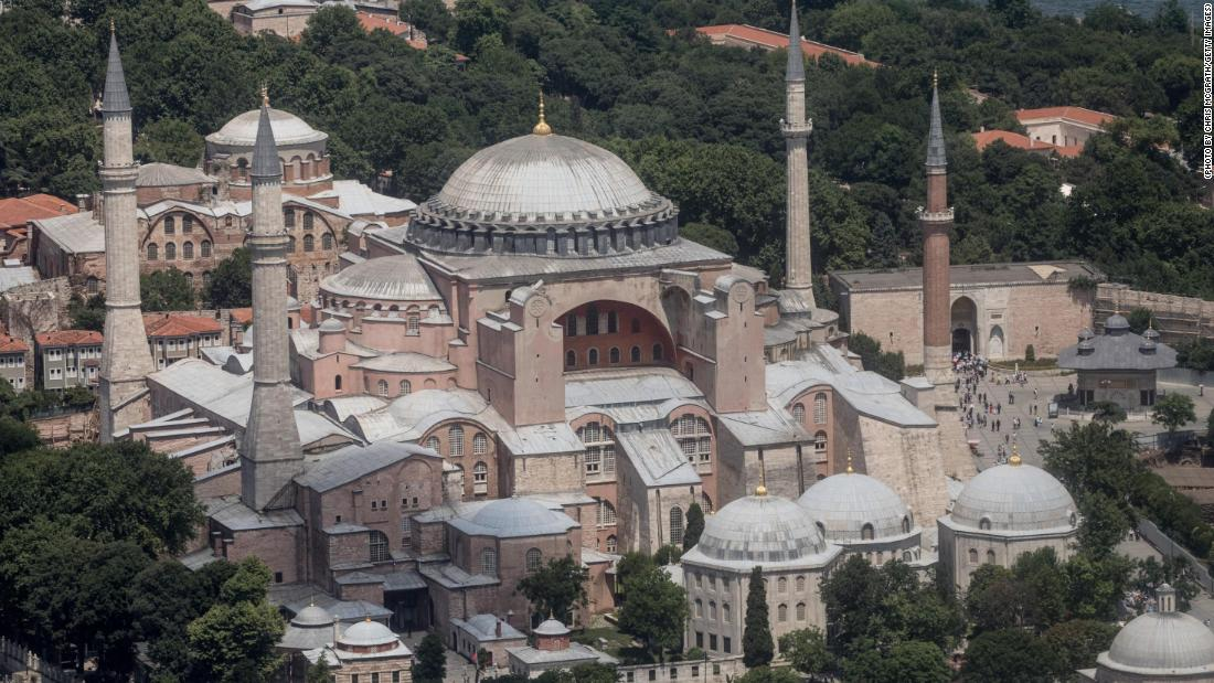 Countries facing economic or social disturbances might find it difficult to allocate resources to protect world treasures such as Istanbul's famous Hagia Sofia in Istanbul, Turkey.