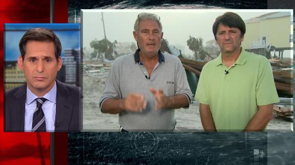 Lebron Lackey and Russell King, the owners of one of the few surviving houses in Mexico Beach, Florida, spoke to CNN