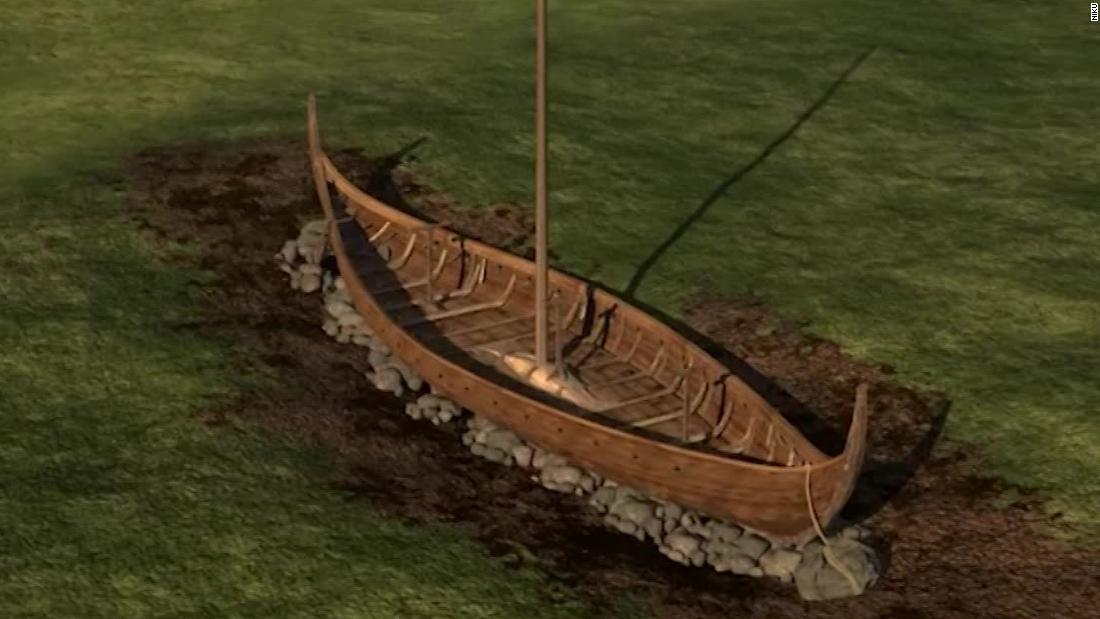 Wikinger-Schiff vergraben, gefunden in Norwegen