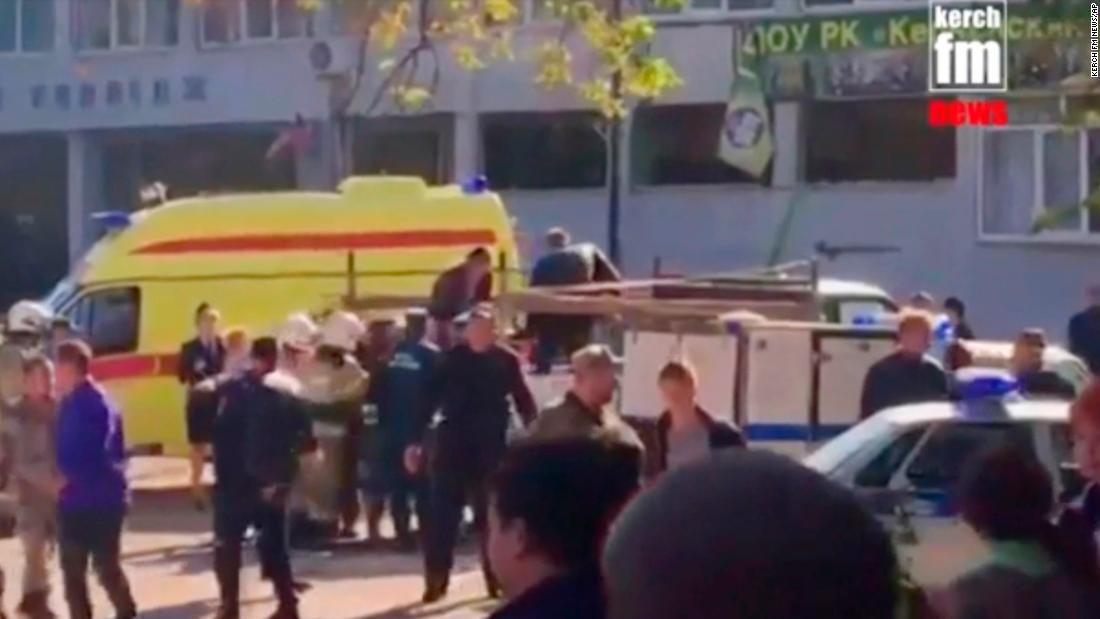 Teens among 18 killed in possible terror attack in Crimea
