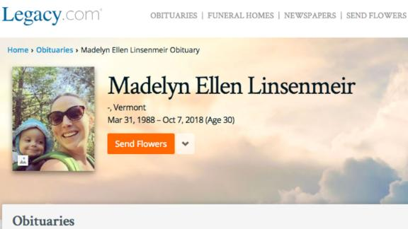 Madelyn Linsenmeir's memorial page on Legacy.com.