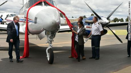 The Royal couple inaugurate a new aircraft for Australia's Royal Flying Doctor Service (RFDS) at Dubbo Regional Airport.