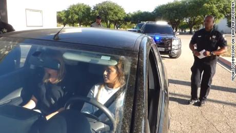 Police officers re-enact a traffic stop in a video meant to teach others what to do during a similar situation.