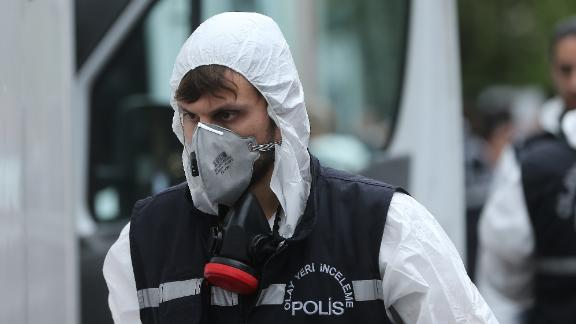 ISTANBUL, TURKEY - OCTOBER 17: Turkish crime scene investigation team arrives at the residence of Consul General of Saudi Arabia as part of an investigation on the disappearance of Prominent Saudi journalist Jamal Khashoggi in the Consulate General of Saudi Arabia in Istanbul, Turkey on October 17, 2018. Turkish and Saudi Arabian officials initiated joint investigation for the case of missing journalist Jamal Khashoggi.   (Photo by Isa Terli/Anadolu Agency/Getty Images)