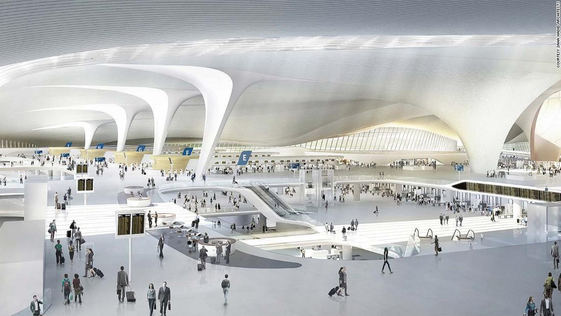 Vast new airport rises in China