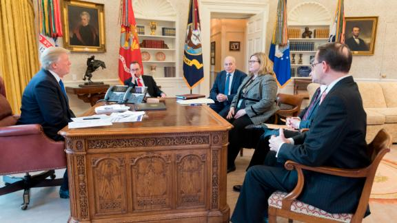 President Donald J. Trump meets with White House Legislative Affairs staffers, Wednesday, Jan. 24, 2018, at the White House in Washington, D.C. (Official White House Photo by Joyce N. Bogthosian)