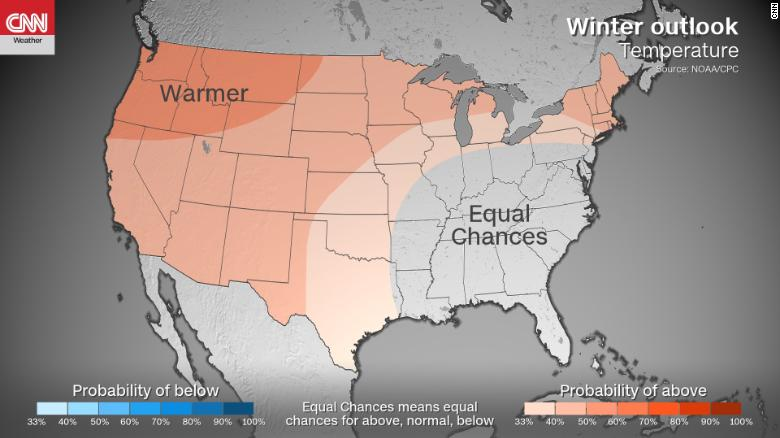 Here's NOAA's 2018-2019 winter weather forecast