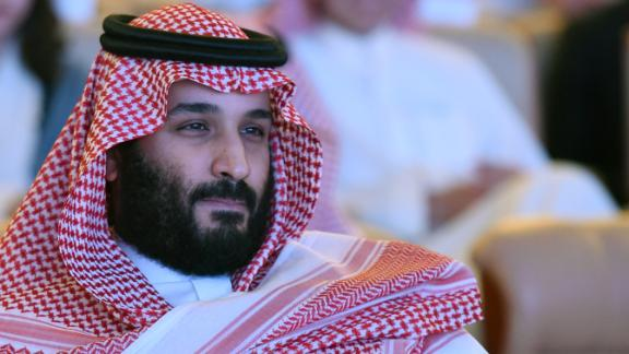 "Saudi Crown Prince Mohammed bin Salman attends the Future Investment Initiative (FII) conference in Riyadh, on October 24, 2017. The Crown Prince pledged a ""moderate, open"" Saudi Arabia, breaking with ultra-conservative clerics in favour of an image catering to foreign investors and Saudi youth.  ""We are returning to what we were before -- a country of moderate Islam that is open to all religions and to the world,"" he said at the economic forum in Riyadh."