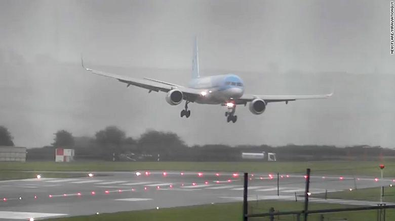Pilot pulls off incredible sideways landing at Bristol Airport