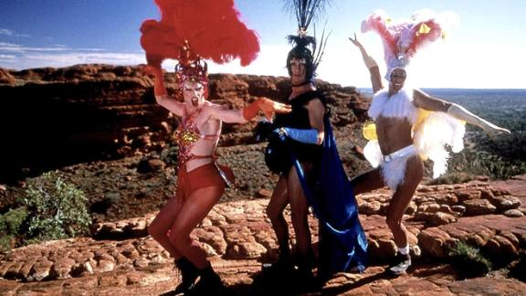 """""""The Adventures of Priscilla, Queen of the Desert"""": A pair of drag performers and a transgender woman travel across the desert to perform their unique style of cabaret in this comedy. <strong>(Amazon Prime, Hulu) </strong>"""