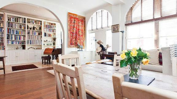 A-list credentials: The property is situated in the city's upmarket South Kensington neighborhood and Madonna once shared this space with ex-husband movie director Guy Richie.