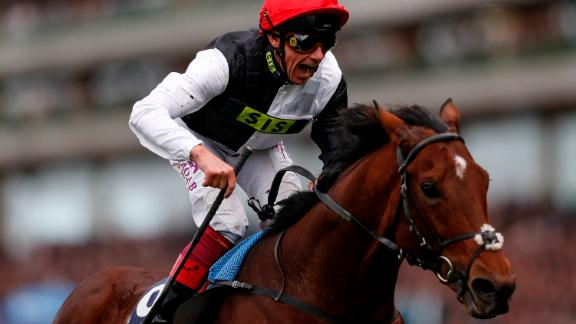 Frankie Dettori celebrates as he rides Cracksman to win The QIPCO Champion Stakes at Ascot on October 21.