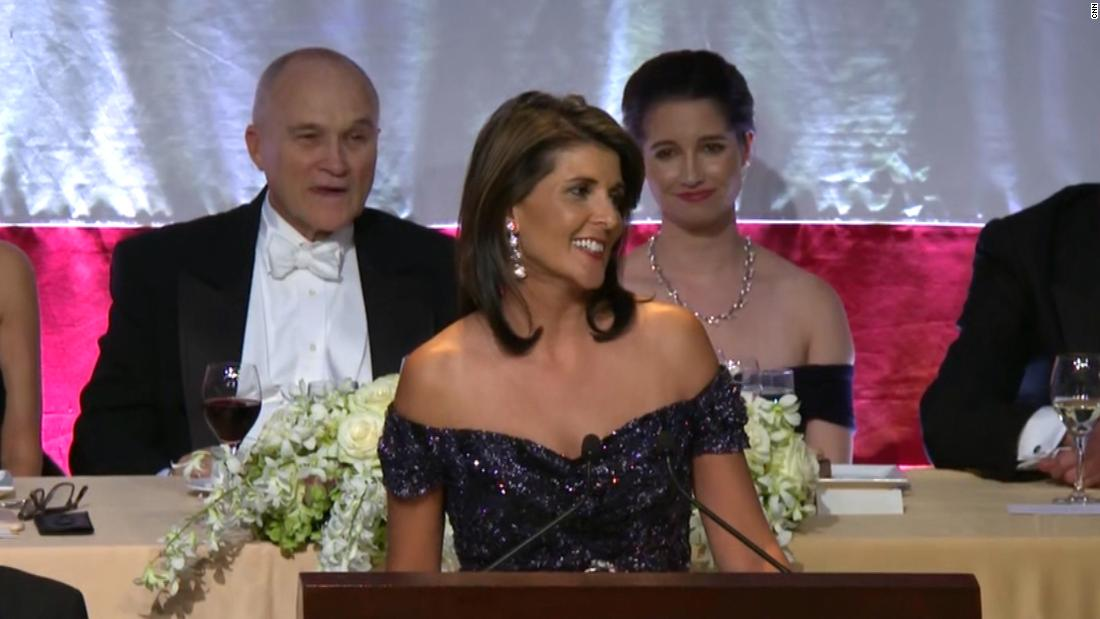 Nikki Haley jokes at fundraising dinner: 'You wanted an Indian woman, but Elizab...