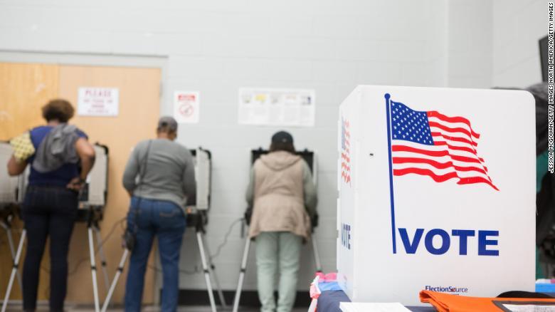 Voters cast ballots