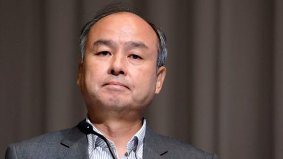 Masayoshi Son, chairman and chief executive officer of SoftBank, at a news conference in Tokyo in August.