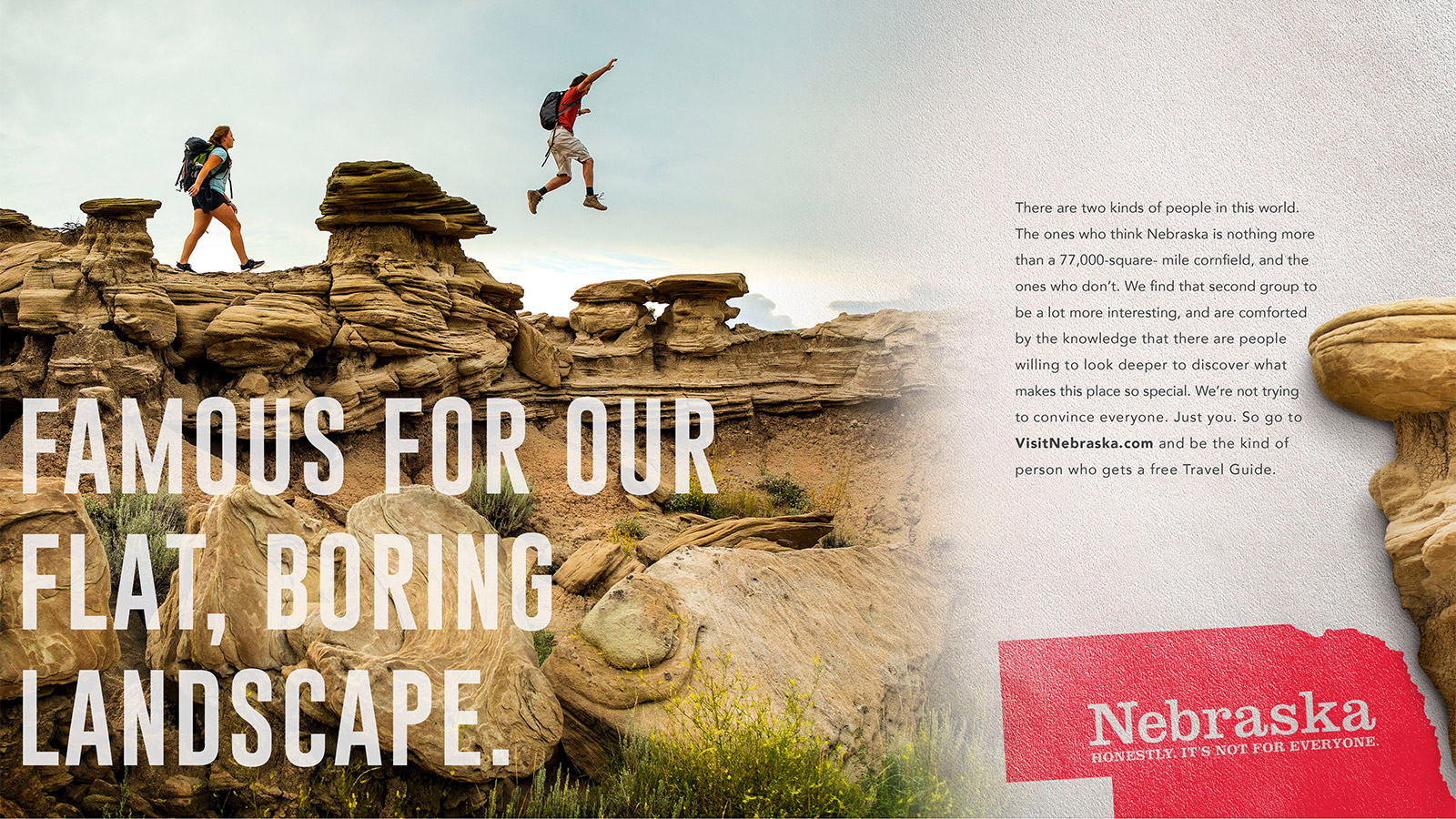 nebraska s unusual tourism campaign honestly it s not for