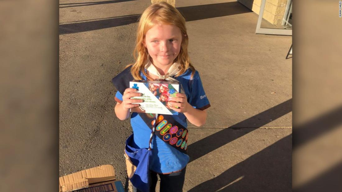 A 9-year-old Canadian cashes in on the long lines for pot -- and sells out her Girl Scouts cookie supply