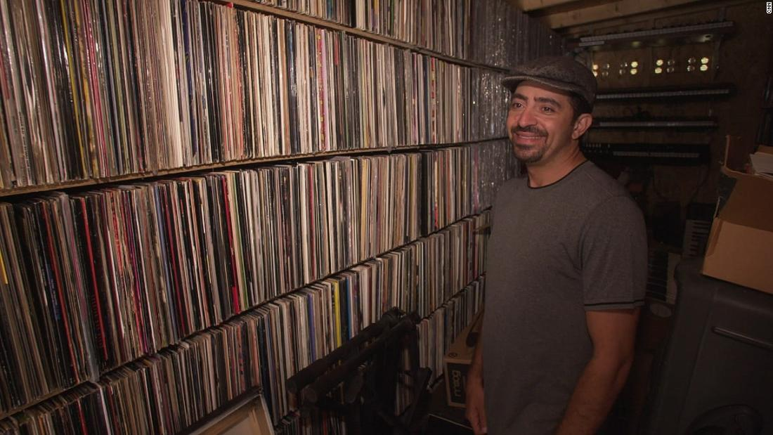 FredWreck has hundreds of records in his collection.