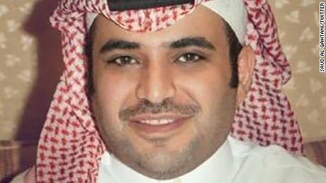 Saud al Qahtan is featured on a photo of his verified Twitter account
