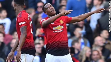 Anthony Martial has scored three league goals this season.