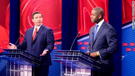 DeSantis and Gillum spar over race, Trump in contentious Florida governor debate