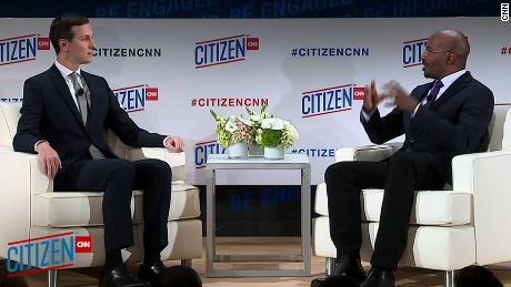 Jared Kushner, senior adviser to President Donald Trump, discusses US Mideast policy, prison reform , and what it's like working for President Donald Trump with CNN's Jones at the CITIZEN at CNN forum in New York.