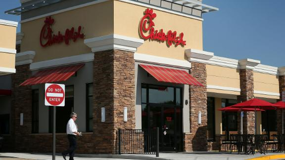 SPRINGFIELD, VA - JULY 26: A man passes by a Chick-fil-A July 26, 2012 in Springfield, Virginia. The recent comments on supporting traditional marriage which made by Chick-fil-A CEO Dan Cathy has sparked a big debate on the issue.