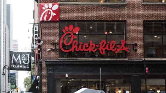 A regular Chick-fil-A restaurant is seen in New York City in 2015.