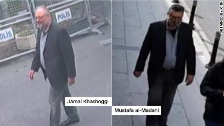 Surveillance footage shows Saudi 'body double' in Khashoggi's clothes after he was killed, Turkish source says