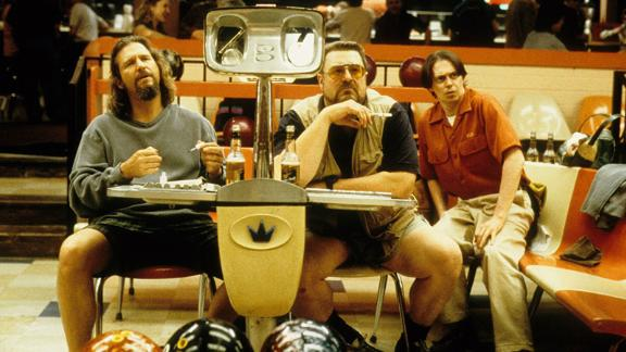 """<strong>""""The Big Lebowski""""</strong>: Jeff Bridges, left, is the Dude and John Goodman and Steve Buscemi his buddies in this Coen brothers comedy about a slacker who is mistaken for a millionaire. <strong>(Hulu)</strong>"""