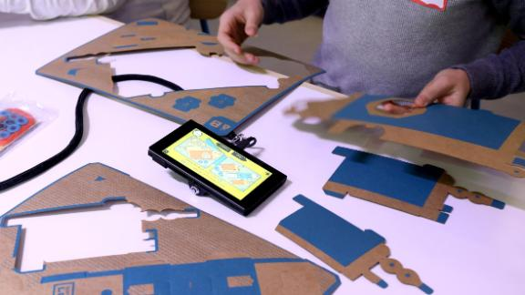 Nintendo Labo cardboard kits are used with different video games.