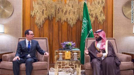 Treasury's Mnuchin meets with Saudi Crown Prince amid outcry over Khashoggi