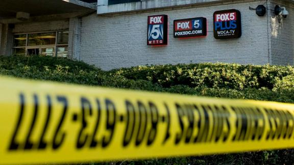 A security guard shot a man who broke into a building housing a Fox affiliate in Washington, police say.