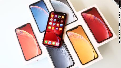 The iPhone XR, available in six colors, hits stores on Friday.