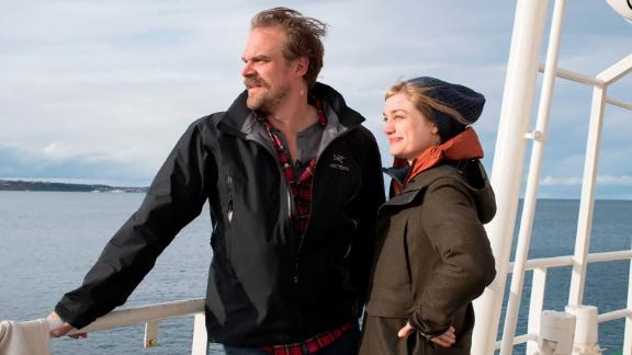 David Harbour and Alison Sudol on a Greenpeace expedition to the Antarctic Ocean