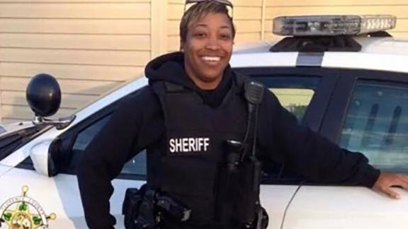 A photo from a GoFundMe campaign page shows South Carolina Deputy Farrah Turner, who has died from her injuries, following a shootout on October 3 in Florence County.