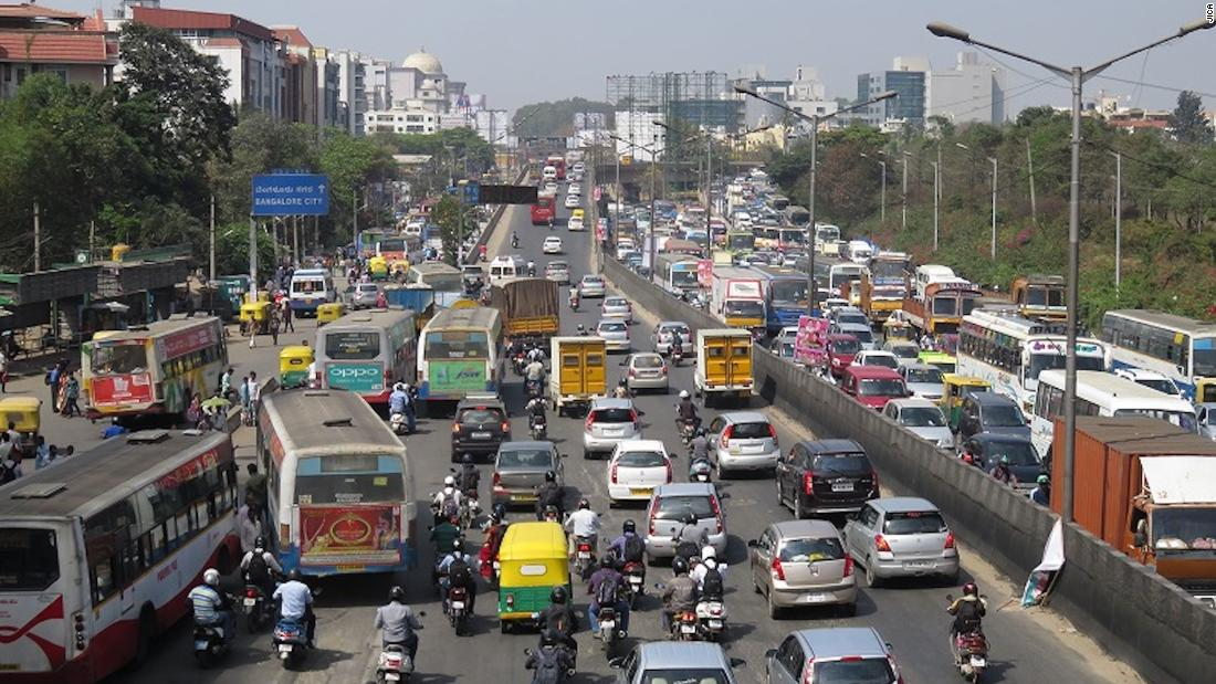 JICA sent teams to Bangalore to assess the traffic and identify sites where an intelligent transport system (ITS) could be installed.