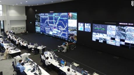 A Japanese traffic control center -- similar to ones that will be put in place in Bangalore.