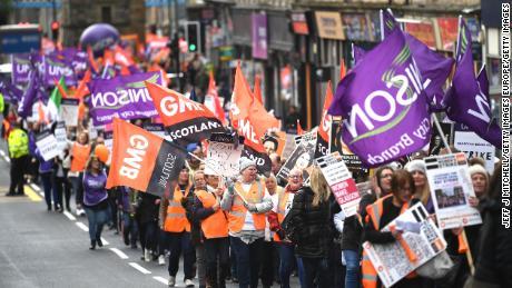 Scotland women strike for 'pay justice' in Glasgow - CNN