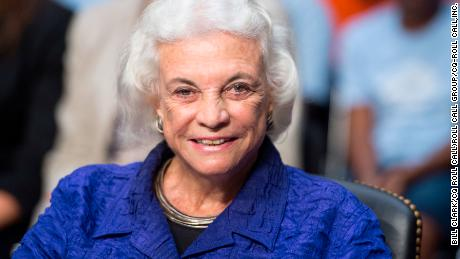 "UNITED STATES - JULY 25: Former Supreme Court Justice Sandra Day O'Connor testifies during the Senate Judiciary Committee hearing on ""Ensuring Judicial Independence Through Civics Education"" on Wednesday, July 25, 2012."