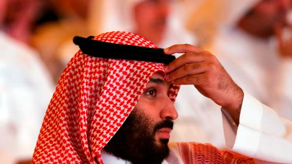 Crown Prince Mohammad bin Salman put in a brief appearance at his Future Investment Initiative in Riyadh on Tuesday.