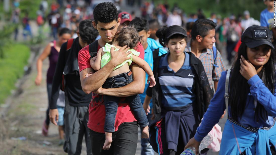 Why are large groups of migrants heading north?