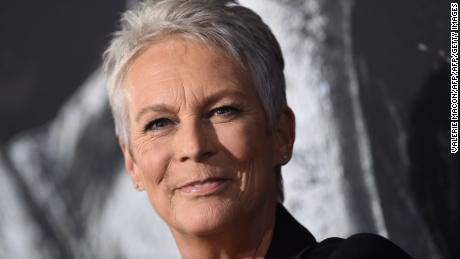 """Jamie Lee Curtis attends the """"Halloween"""" premiere at the TCL Chinese Theatre in LA, October 17, 2018."""