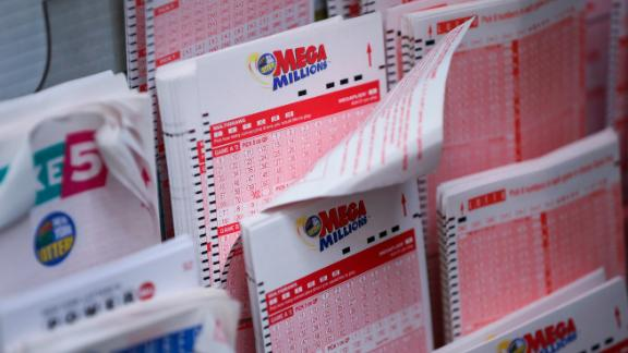 NEW YORK, NY - OCTOBER 23: Mega Millions lottery tickets sit inside a convenience store in Lower Manhattan, October 23, 2018 in New York City. The $1.6 billion Mega Millions prize to be drawn Tuesday night is set to be the largest lottery prize in U.S. history. (Photo by Drew Angerer/Getty Images)