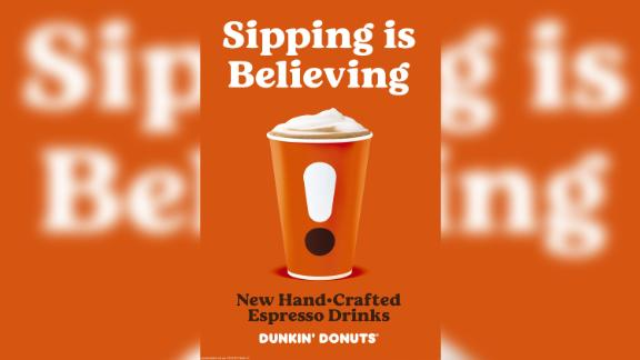 Dunkin' unveils new espresso recipes and cups.