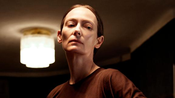 "Tilda Swinton as Madame Blanc stars in ""Suspiria."""